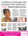 Confidence to smile again with permanent tooth replacement